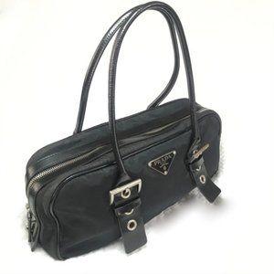Authentic Vintage Prada Nylon Black Shoulder Bag